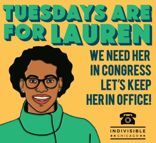 Phone banking for Lauren Underwood, running to keep her seat in Congress